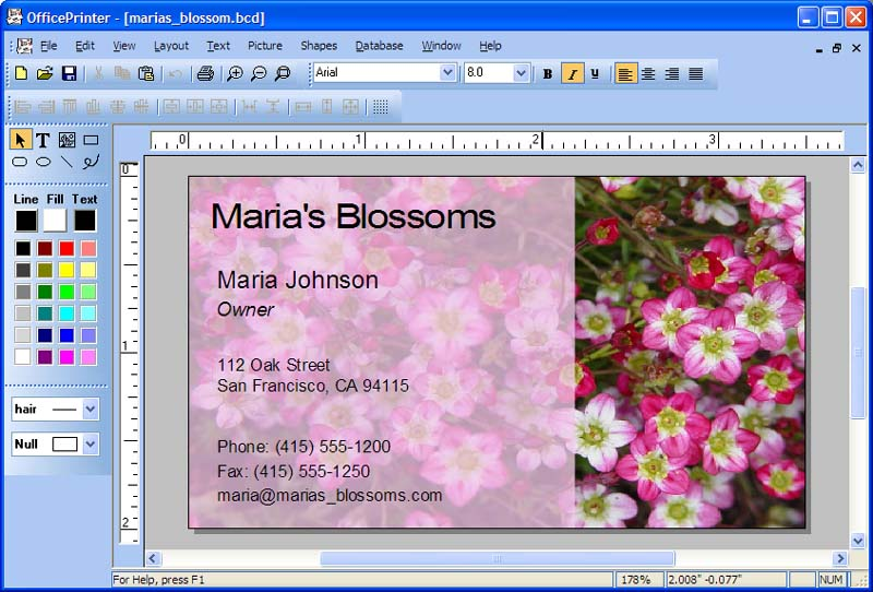 Officeprinter Business Card Software Business Card Software And Label Software For Labels Letterhead Envelopes
